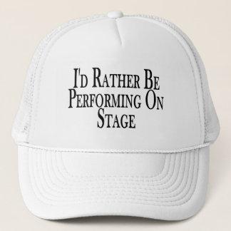 Seien Sie eher auf Bühne darstellend Truckerkappe