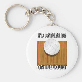 Seien Sie eher auf dem Gericht (Volleyball) Schlüsselanhänger