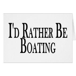 Seien Sie eher Bootfahrt Karte