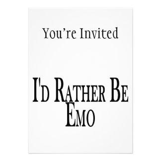 Seien Sie eher Emo Individuelle Ankündigung