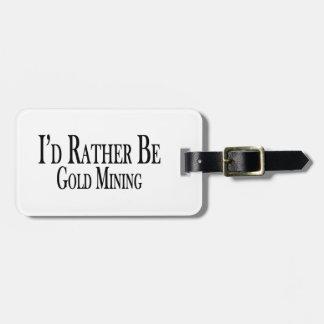 Seien Sie eher Goldförderung Kofferanhänger