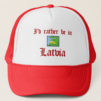 Seien Sie eher in Lettland Truckerkappe