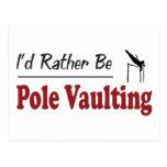 Seien Sie eher PoleVaulting Postkarte