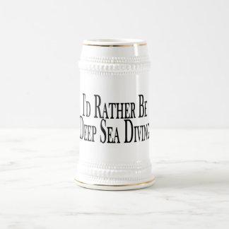 Seien Sie eher Tiefsee-Tauchen Bierglas