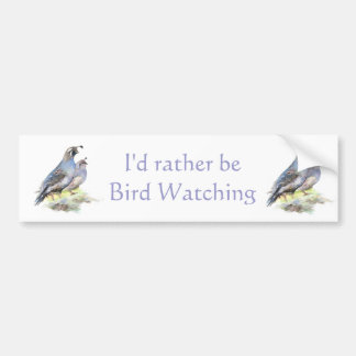 Seien Sie eher Vogelbeobachtung-Kalifornien-Wachte Autoaufkleber