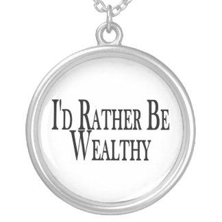 Seien Sie eher wohlhabend Versilberte Kette