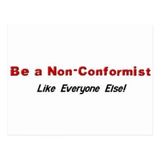 Seien Sie ein Nonkonformist Postkarte