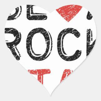 Seien Sie ein Rockstar Herz-Aufkleber