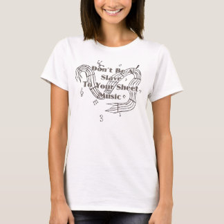 Seien Sie ein Sklave nicht zu Ihren Noten T-Shirt