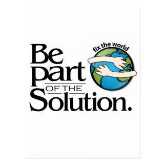 Seien Sie ein Teil der Lösung besonders anfertigen Postkarte