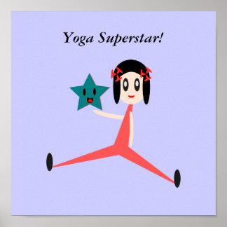 Seien Sie ein Yoga-Superstar Poster