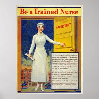 Seien Sie eine ausgebildete Krankenschwester, Poster