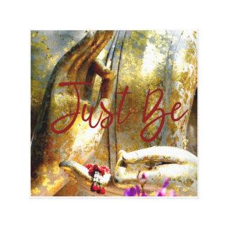 Seien Sie einfach Buddha-Handgold und -ROT Leinwanddruck