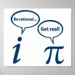 Seien Sie erhalten wirklichen eingebildeten Mathe-