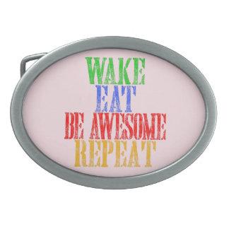 Seien Sie fantastisch! Ovale Gürtelschnalle