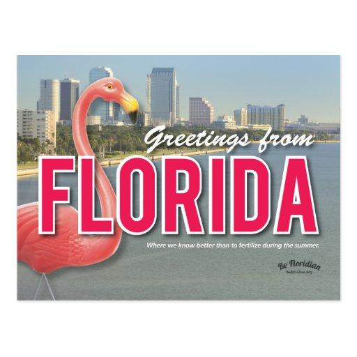 Seien Sie - Florida-Postkarte Florida