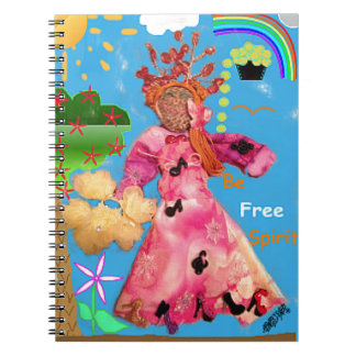 Seien Sie freier Geist! ^_^ gewundenes Notizbuch Notizblock