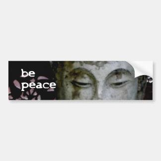 """""""Seien Sie Frieden"""" ruhiger Buddha (Schwarzes/Weiß Autoaufkleber"""