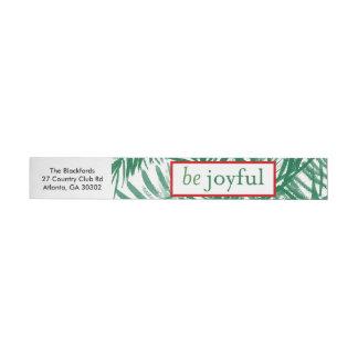 Seien Sie froher Aquarell-Weihnachtsbaum-Aufkleber Rundum-Adressaufkleber