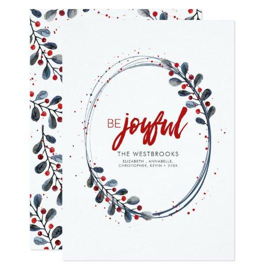Seien Sie froher moderner Feiertag 12,7 X 17,8 Cm Einladungskarte