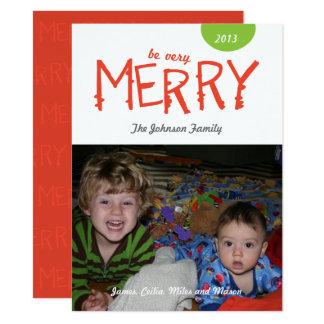 Seien Sie fröhliche Feiertags-Foto-Karte 14 X 19,5 Cm Einladungskarte