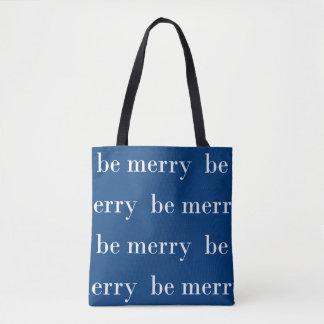 Seien Sie fröhliches blaues und weißes | Tasche