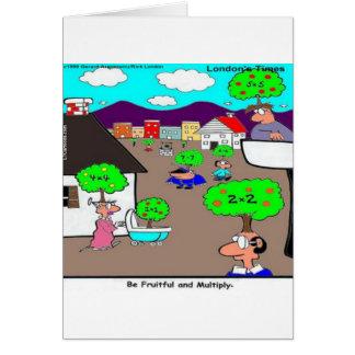 Seien Sie fruchtbar u. multiplizieren Sie lustiges Karte