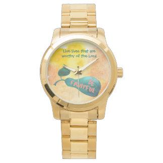 Seien Sie fruchtbares Aquarell Uhr