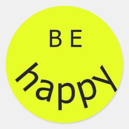 Seien Sie glücklich Sticker