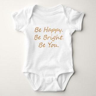 Seien Sie glücklich Baby Strampler