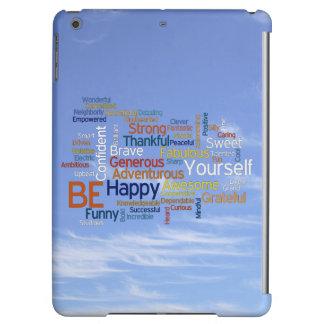 Seien Sie glücklich, dass Wort-Wolke im blauen