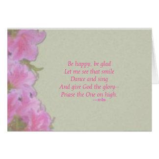Seien Sie glücklich Grußkarte