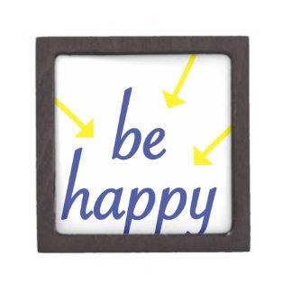 Seien Sie glücklich Kiste