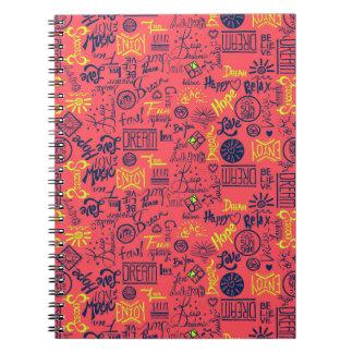 Seien Sie glücklich, rot Notizbücher