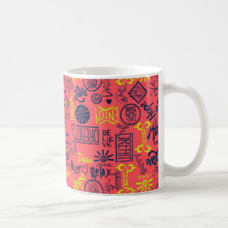 Seien Sie glücklich, rot Tasse
