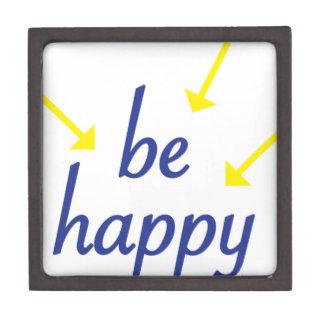 Seien Sie glücklich Schmuckkiste