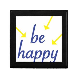 Seien Sie glücklich Schmuckschachtel