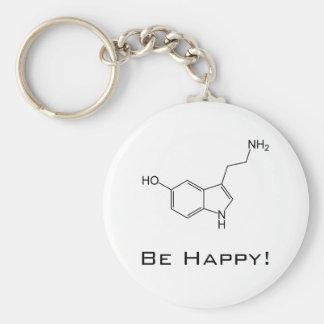 Seien Sie glücklich! Serotonin Keychain Schlüsselanhänger