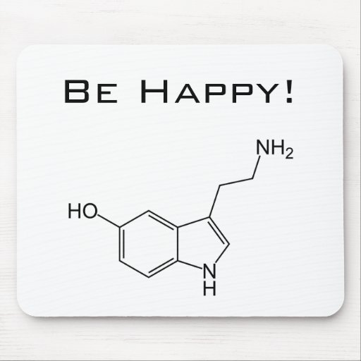 Seien Sie glücklich! Serotonin Mousepad