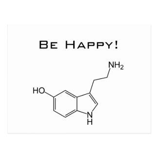 Seien Sie glücklich! Serotonin-Postkarte