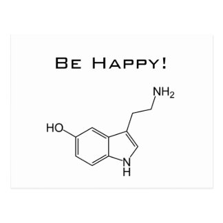 Seien Sie glücklich! Serotonin-Postkarte Postkarte