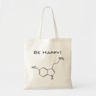 Seien Sie glücklich! Serotonin-Tasche Budget Stoffbeutel