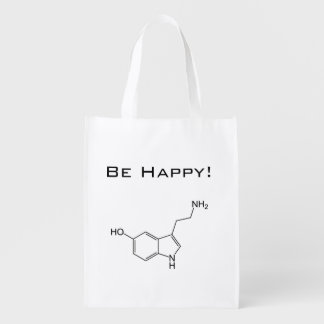 Seien Sie glücklich! Serotonin-wiederverwendbare Einkaufsbeutel