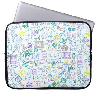 Seien Sie glücklich, weiß Computer Sleeve Schutzhüllen