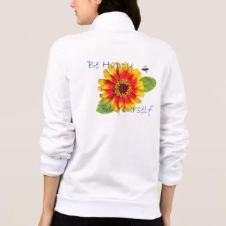 Seien Sie glückliche Blumen-Jacke Bedruckte Jacke