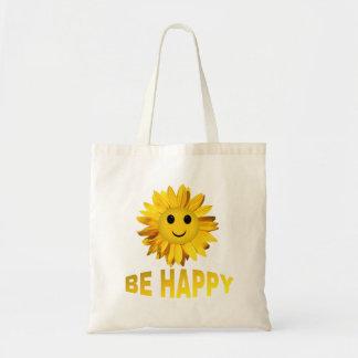 Seien Sie glückliche Budget Stoffbeutel