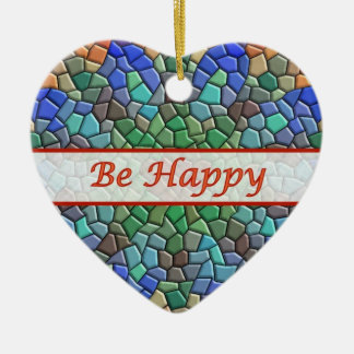 Seien Sie glückliche bunte Mosaik-Herz-Verzierung Keramik Herz-Ornament
