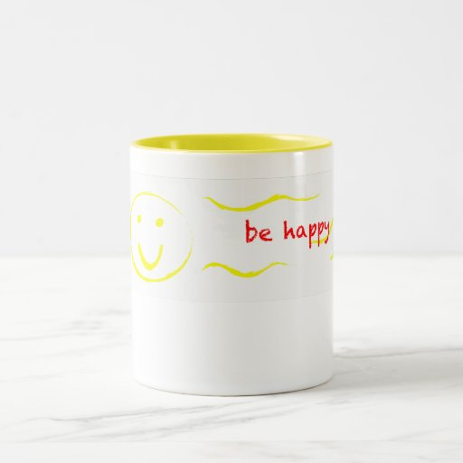 """""""seien Sie glückliche"""" smiley-Tasse"""