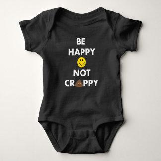 Seien Sie glücklicher nicht Crappy Baby-Bodysuit Baby Strampler