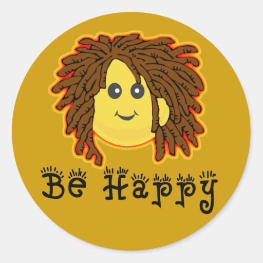 Seien Sie glücklicher Rasta Montag smiley Dreadloc Sticker